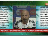 """MUNDIAL 2018: Sampaoli dijo """"Me siento muy representado con los convocados"""""""