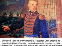 Acto conmemorativo al Almirante Brown en Puerto Quequén