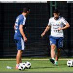 MUNDIAL 2018: Sampaoli probó al Kun en lugar de Higuaín