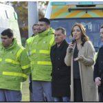 Vidal presentó el SAME en el partido de Moreno