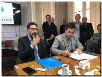 Puerto Quequén firmó acuerdos de cooperación con Puertos de Rosario y Villa Constitución