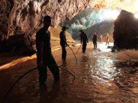 Tras el rescate de los niños, la cueva colapsó