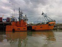 Fueron hallados sanos y salvos los tripulantes de un buque pesquero en emergencia