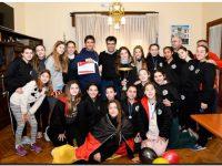 López agasajó con un desayuno a las campeonas del Nacional de Hándbol