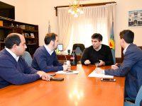 López recibió a BAGSA, empresa provincial que hará la obra de gas natural en Claraz