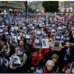 Multitudinario reclamo de justicia por Santiago Maldonado
