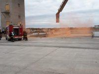 Simulacro de incendio en Puerto Quequén