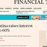 ECONOMÍA: La prensa internacional subrayó el agravamiento de la crisis argentina