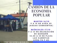 NECOCHEA: Camión de la economía popular