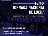 EDUCACIÓN: Jornada Nacional de Lucha en las Universidades Nacionales