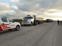 NECOCHEA: Detienen camiones por presunto robo de arena