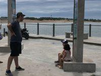 QUEQUÉN: Mirador de la Escollera Norte. Puerto Quequén mar adentro