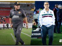 FÚTBOL: Maradona felicitó a Martino
