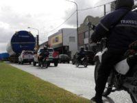 NECOCHEA: Se montó un gran operativo municipal para comenzar a transportar los aerogeneradores