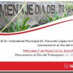 NECOCHEA: Conmemoración oficial por el Día del Trabajador