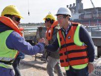 """PUERTO QUEQUÉN: Rojas: """"Tenemos un puerto en acción que genera trabajo"""""""