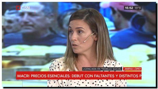 POLÍTICA: Jimena López en canales de Capital Federal