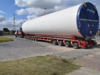 PUERTO QUEQUÉN: Nuevo traslado de aerogeneradores