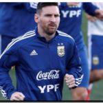 FÚTBOL: Messi se entrenó con la Selección Argentina
