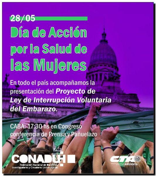 ABORTO LEGAL: Apoyo de la CONADU Histórica