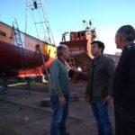 PUERTO QUEQUÉN: El Presidente recorrió el Astillero Vanoli