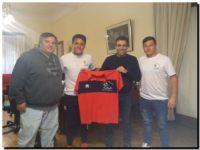 NECOCHEA: López recibió a los organizadores de la Copa Internacional de fútbol infanto-juvenil