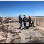 """PUERTO QUEQUÉN: Comenzó la pavimentación de la calle de la Escollera Sur. Rojas: """"Seguimos concretando obras"""""""