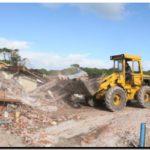 TURISMO: Empezó la demolición del restaurant y el «nuevo» Lago de los Cisnes empieza a tomar forma