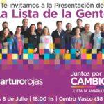 ELECCIONES 2019: Lunes 8, Arturo Rojas presenta la lista de la gente