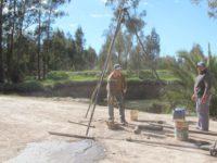 Análisis de suelo para construcción de nuevo puente en Lobería