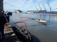 Puerto Quequén moderniza su red contra incendios en la margen de Necochea