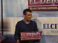 El Intendente López en el debate televisivo