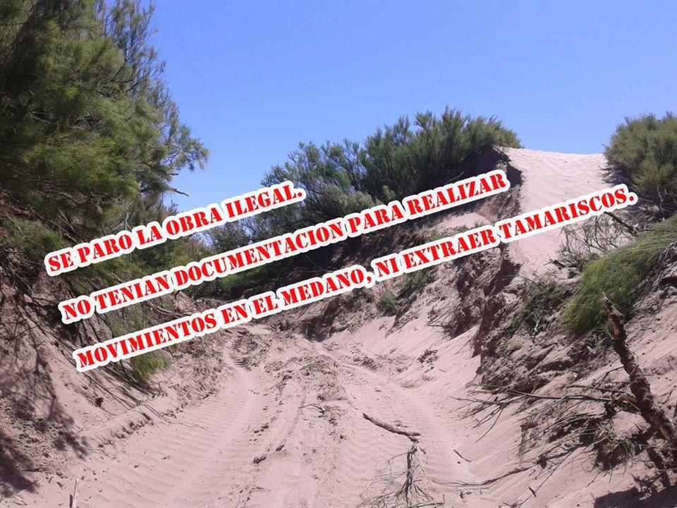 Vecinos alertaron sobre acciones ilegales con la arena