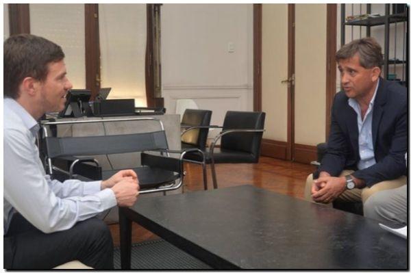 Encuentro de Fioramonti con el ministro de producción