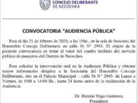 Audiencia pública por el aumento del transporte