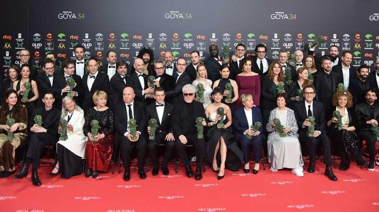 Ganadores de la 34 edición de los Premios Goya
