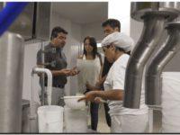 Visita del municipio a la planta de producción de Helados Chinos