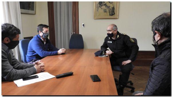 Rojas recibió al nuevo Superintendente Regional Atlántica II de la Policía