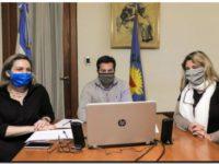 Rojas, Kalle y Antenucci participaron de una teleconferencia con el gobernador