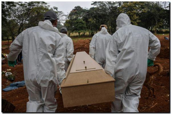 Brasil supera los 20.000 muertos por coronavirus, con récord diario