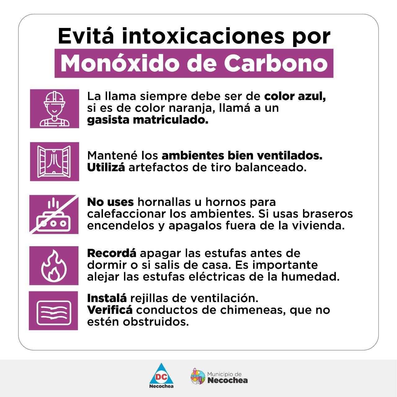 Cómo evitar intoxicaciones por monóxido de carbono