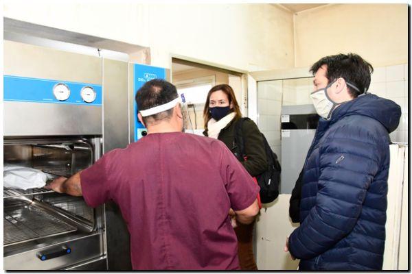 Puerto Quequén donó  un esterilizador al hospital