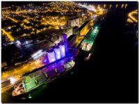 PUERTO QUEQUÉN: Puesta a punto de las luminarias de los silos