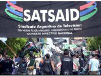 Trabajadores de Canal 13 y Polka marchan en defensa del empleo y el pago de salarios