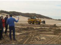 NECOCHEA: Remueven restos del muelle de pescadores