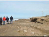 NECOCHEA: Evaluaron los puntos de erosión