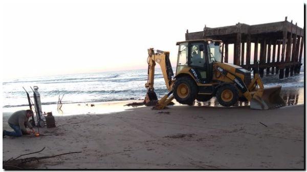 NECOCHEA: Continúan limpiando el Muelle de Pescadores
